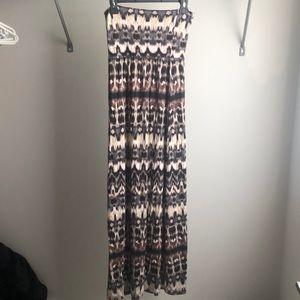Aritzia dress summer skirt brown black grey
